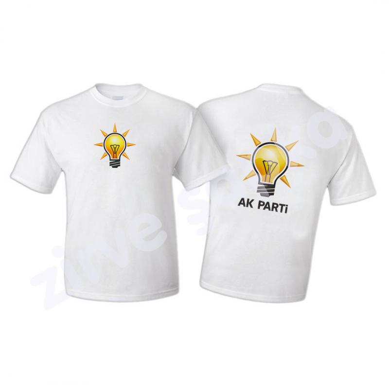 Ak Parti Promosyon Sıfır Yaka Tişört