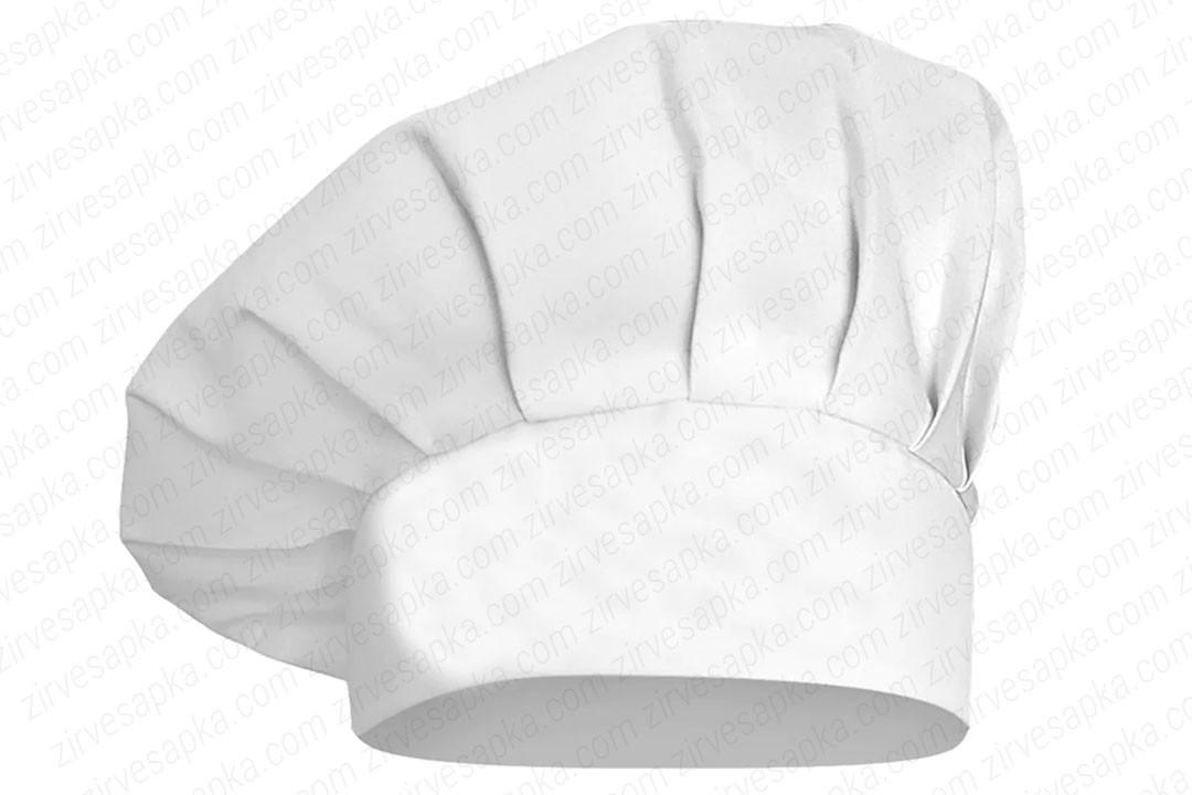 Aşçı Şapkası Mantar Kep Beyaz