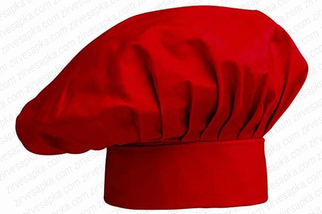 Aşçı Şapkası Mantar Kep Kırmızı