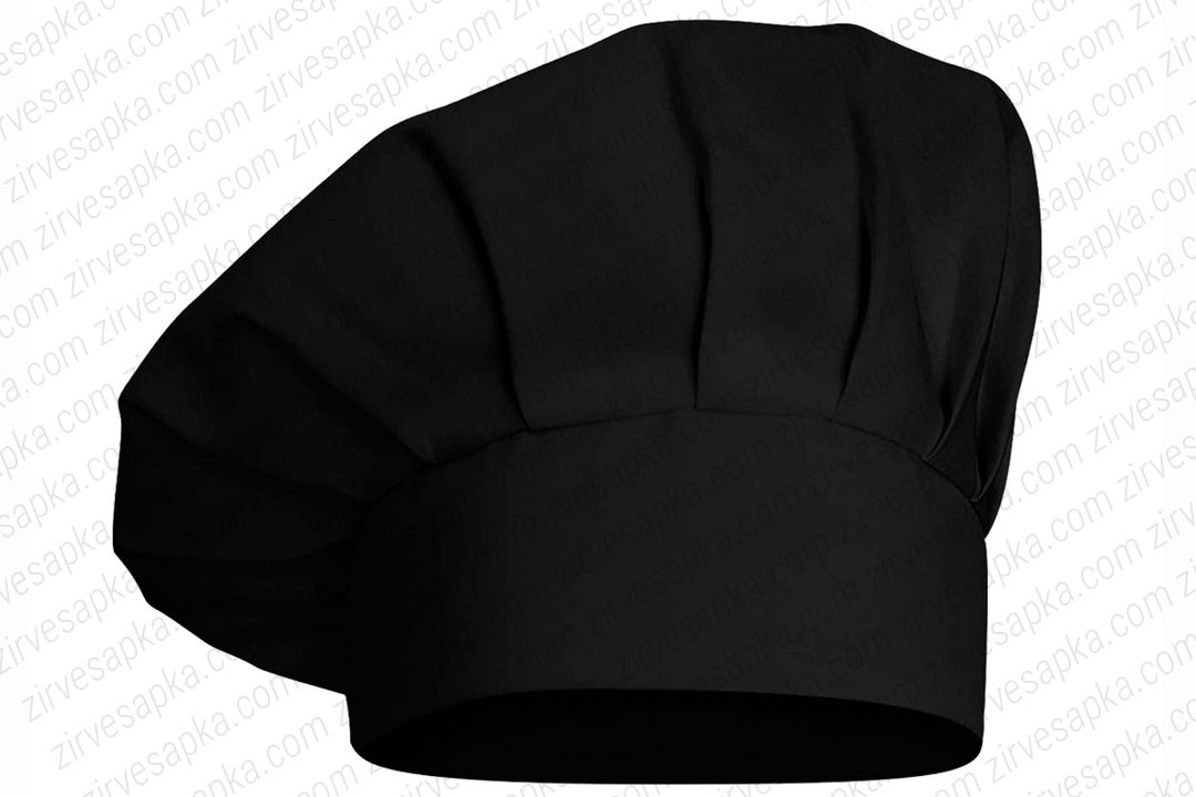 Aşçı Şapkası Mantar Kep Siyah