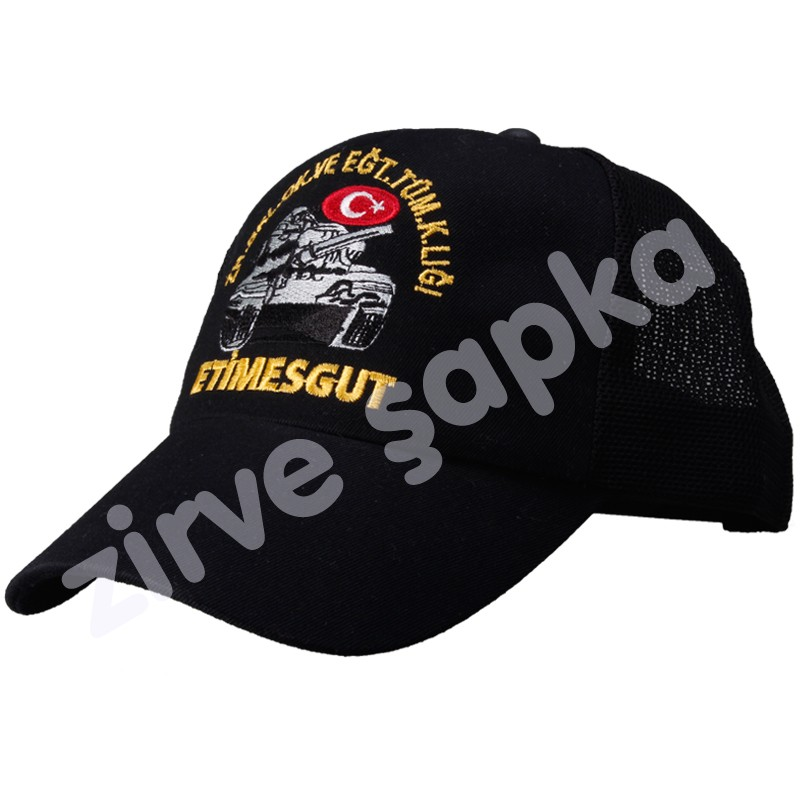 Asker Şapkası Siyah Fileli