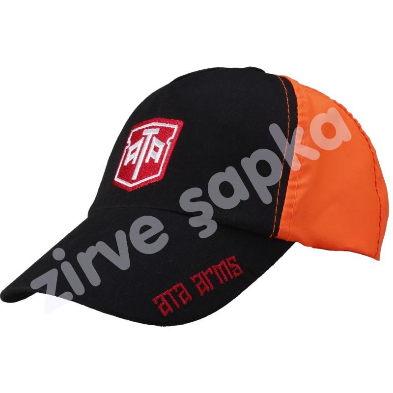 Avcı Şapkası Siyah - Turuncu