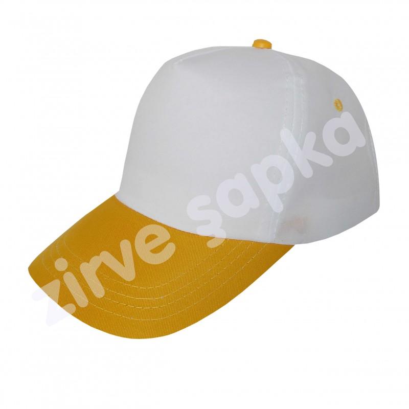 Bereket Şapka - Beyaz Sarı