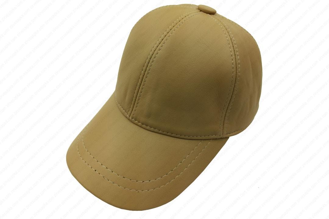 Deri Şapka - Bej - Deri1003