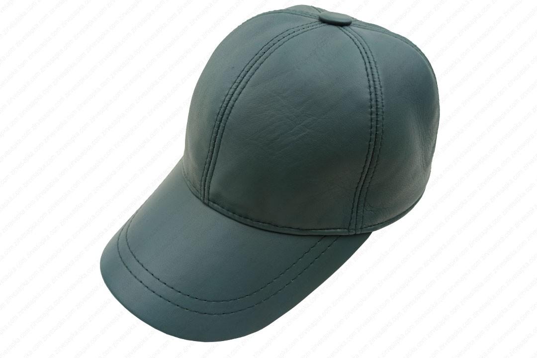 Deri Şapka - Mint Yeşil - Deri1004