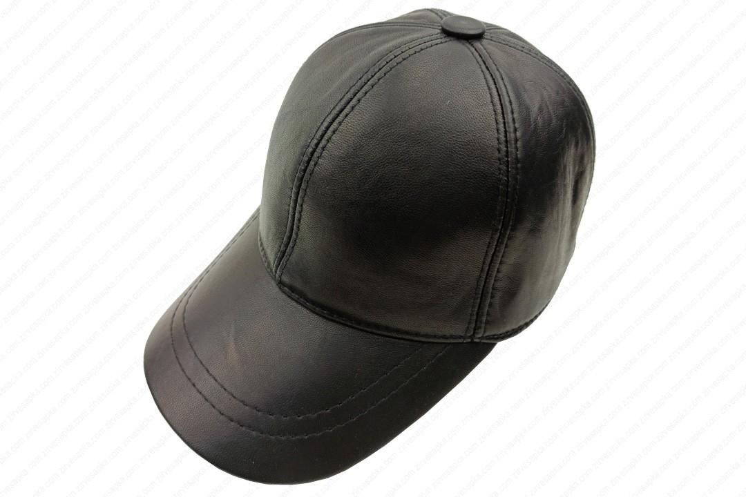 Deri Şapka - Siyah - Deri1001