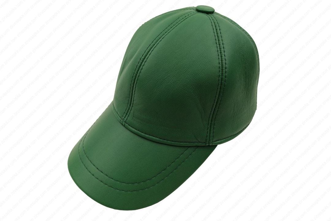 Deri Şapka - Yeşil - Deri1005