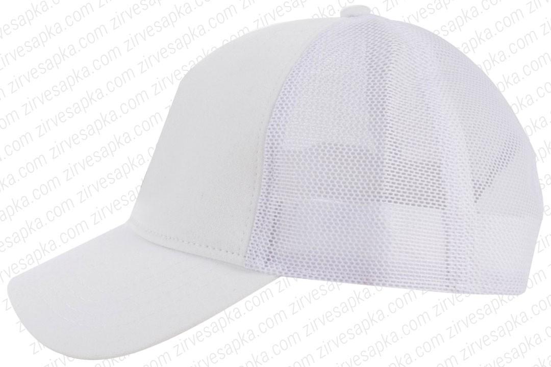 Fileli Şapka Beyaz