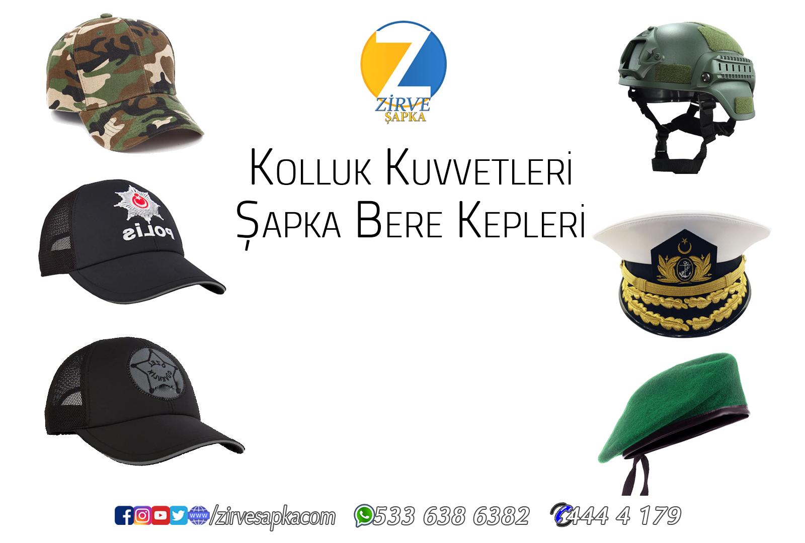 Kolluk Kuvvetlerinin Şapkaları