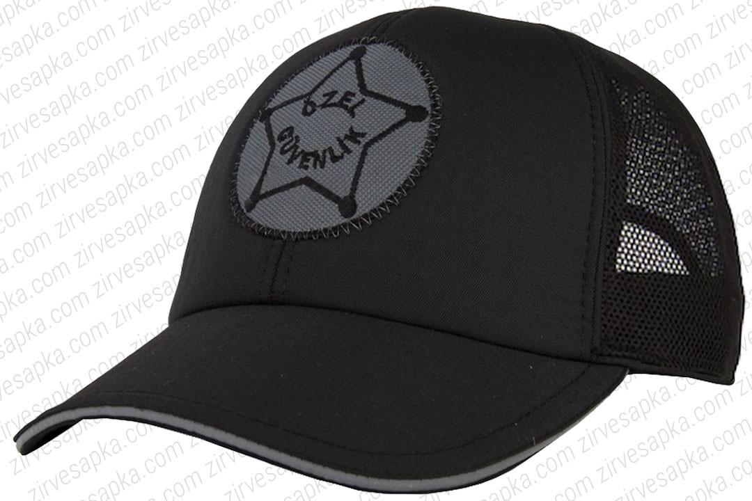 Özel Güvenlik Şapkası Siyah Fileli