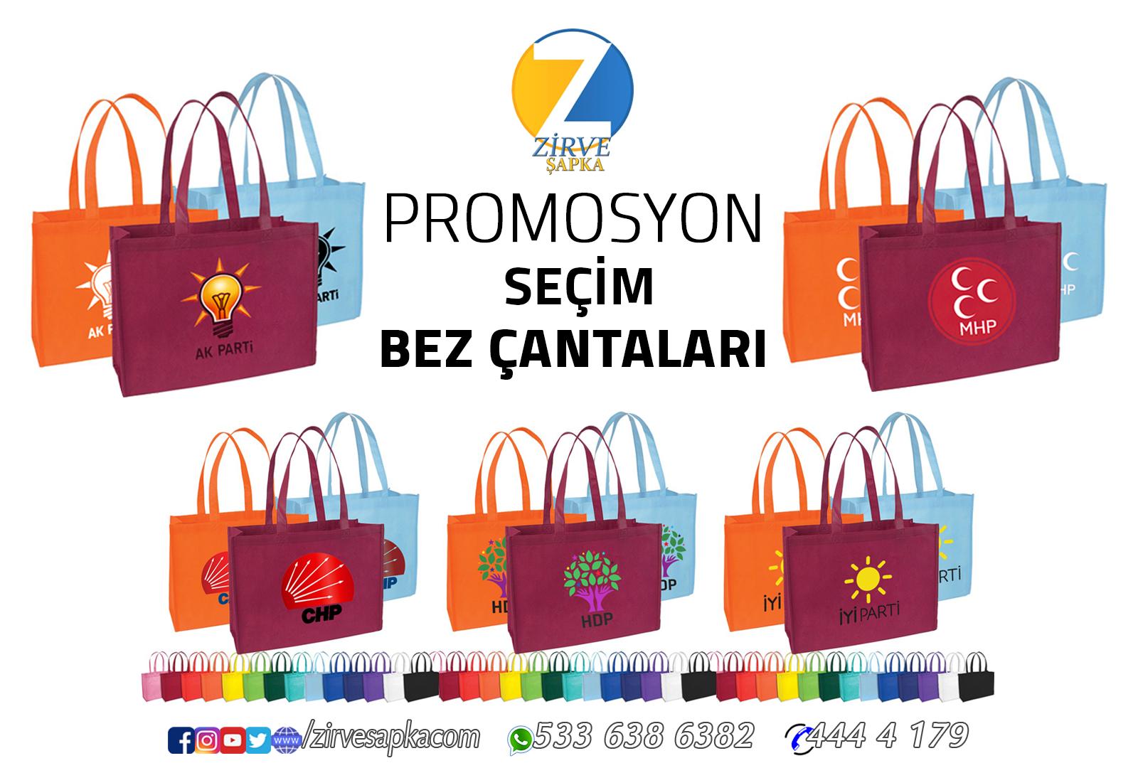 Promosyon Seçim Bez Çantaları