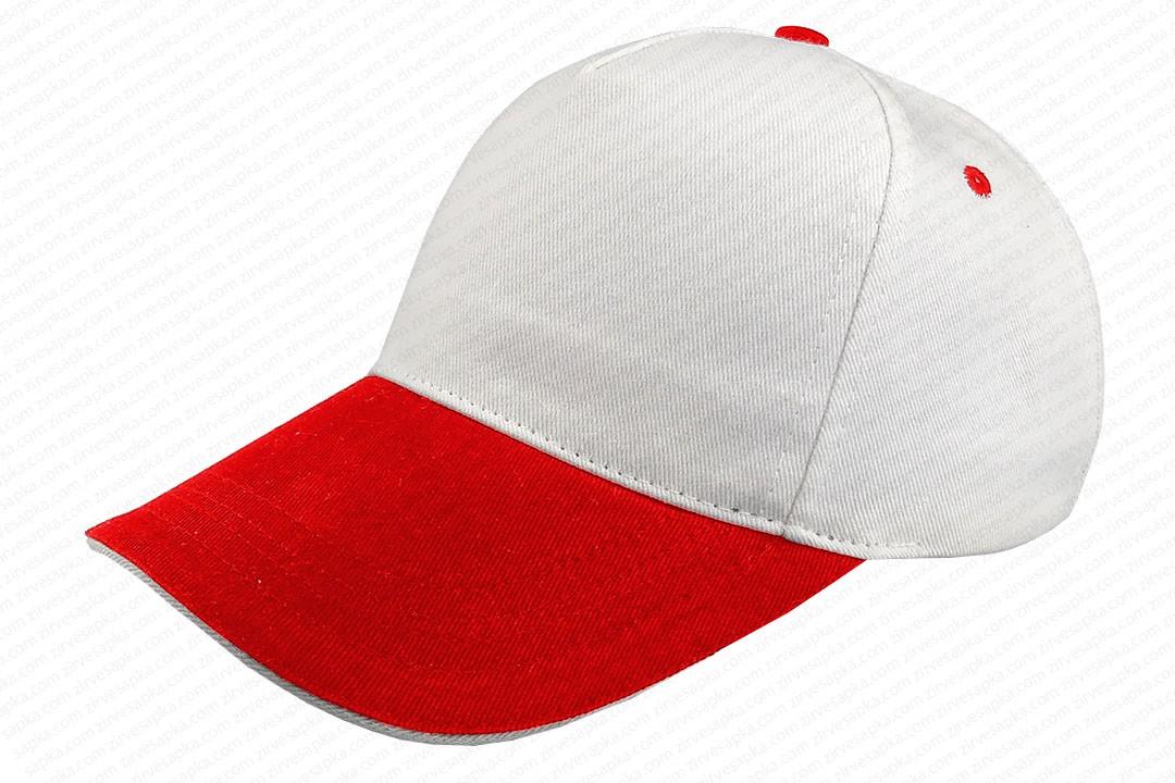 Sandviçli Bereket Şapka Beyaz-Kırmızı