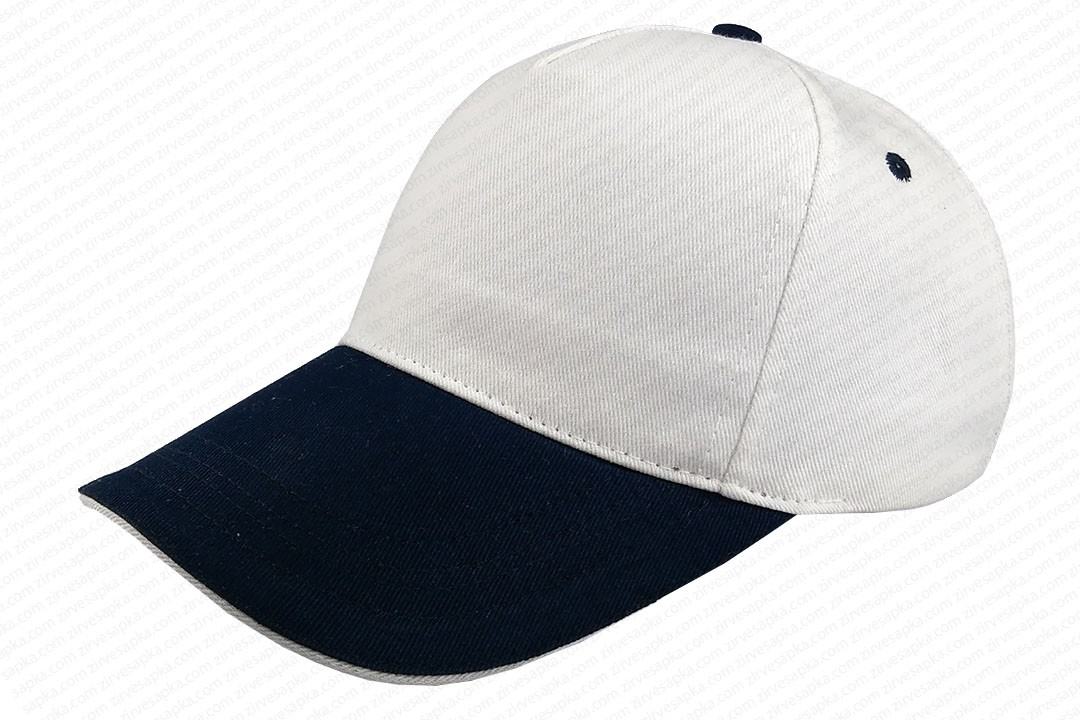Sandviçli Bereket Şapka Beyaz-Lacivert