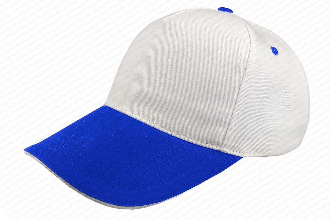 Sandviçli Bereket Şapka Beyaz-Mavi