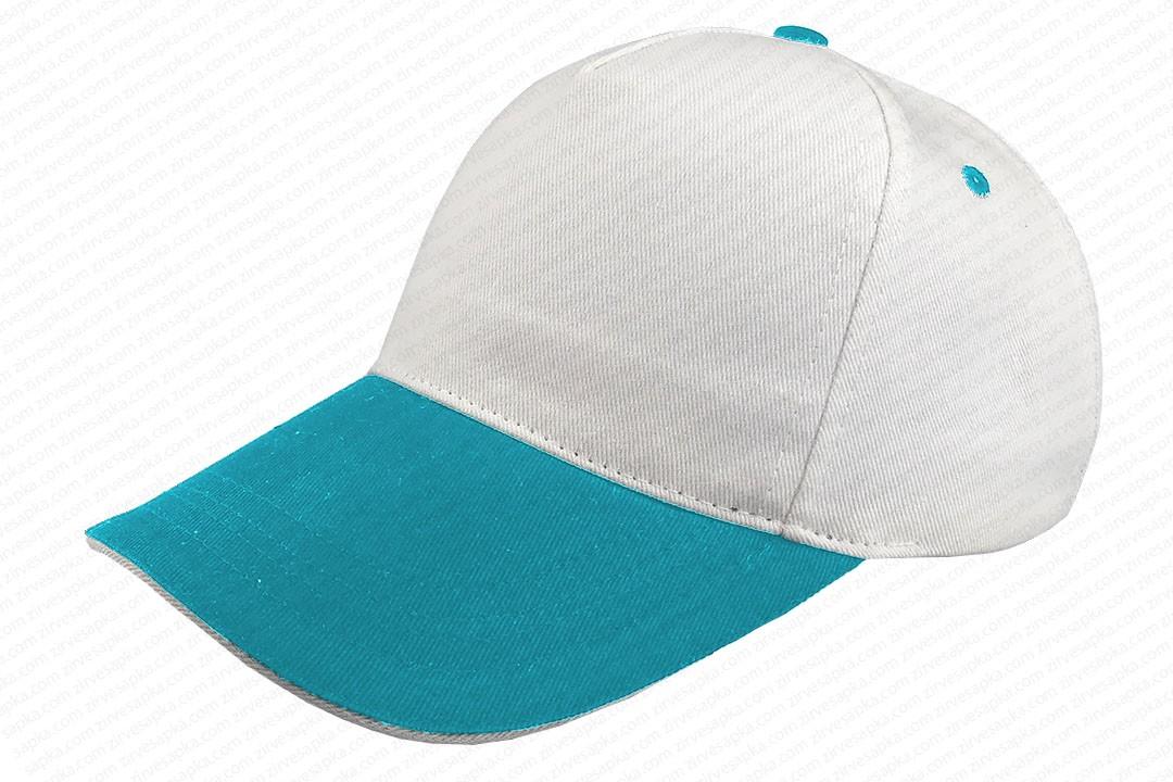 Sandviçli Bereket Şapka Beyaz-Turkuaz