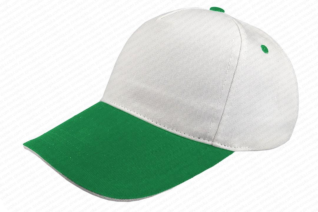 Sandviçli Bereket Şapka Beyaz-Yeşil