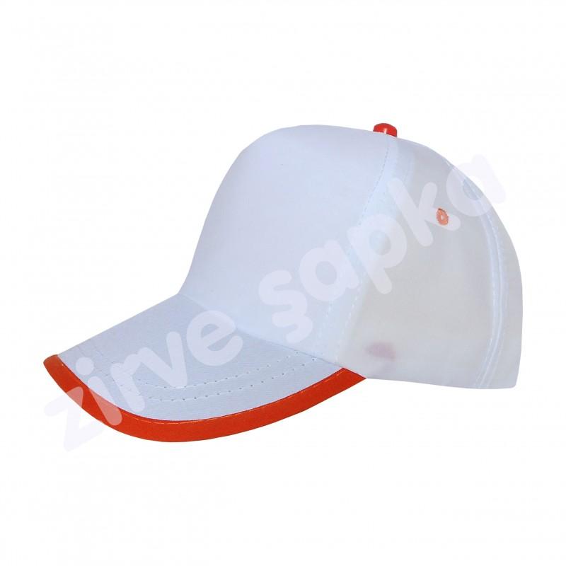 SB Bereket Şapka Beyaz Turuncu