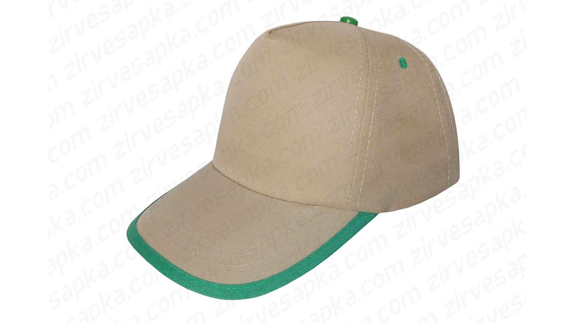 Siperi Biyeli Bereket Şapka - Bej Yeşil