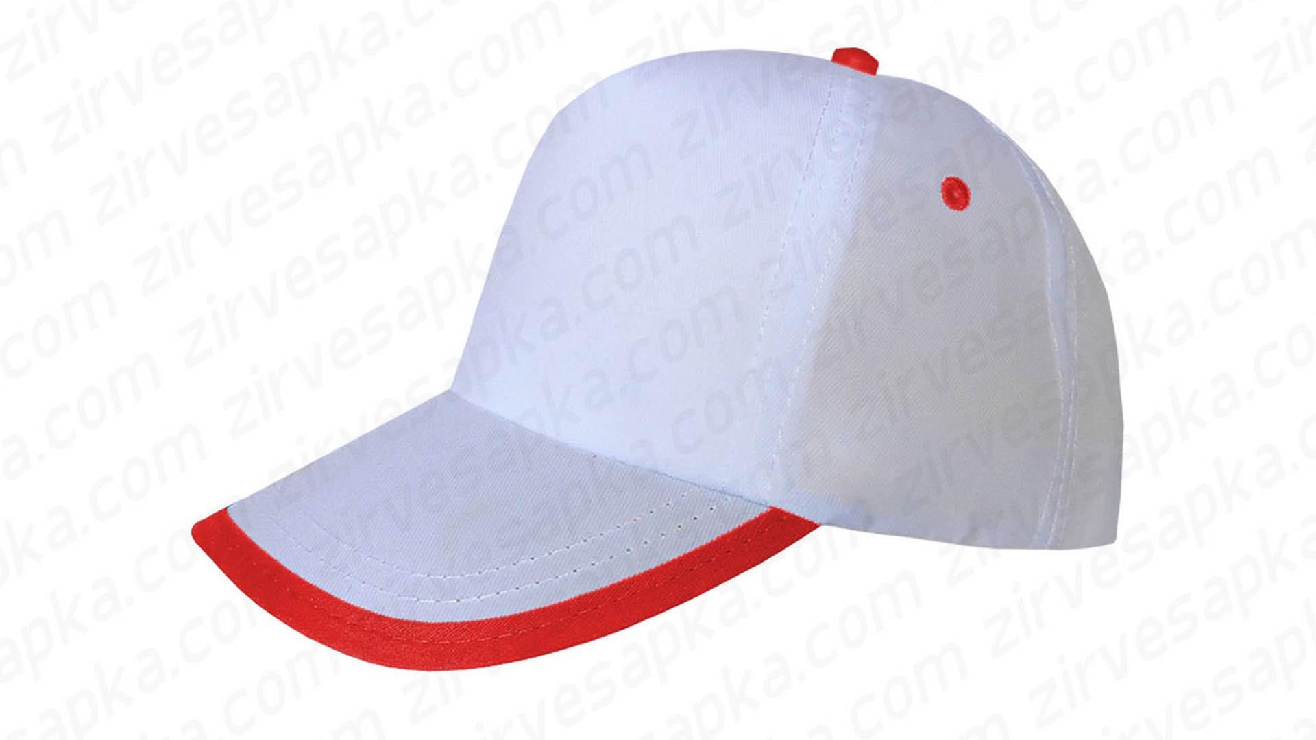 Siperi Biyeli Bereket Şapka - Beyaz Kırmızı