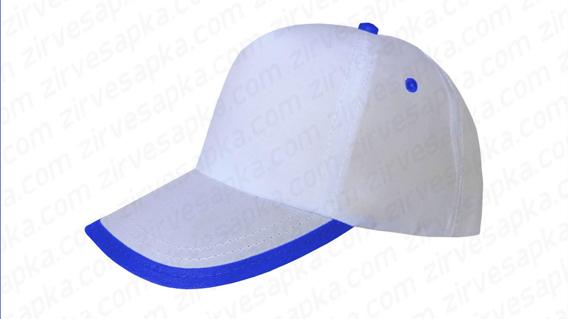 Siperi Biyeli Bereket Şapka - Beyaz Mavi