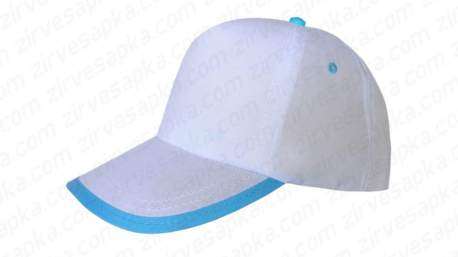 Siperi Biyeli Bereket Şapka - Beyaz Turkuaz