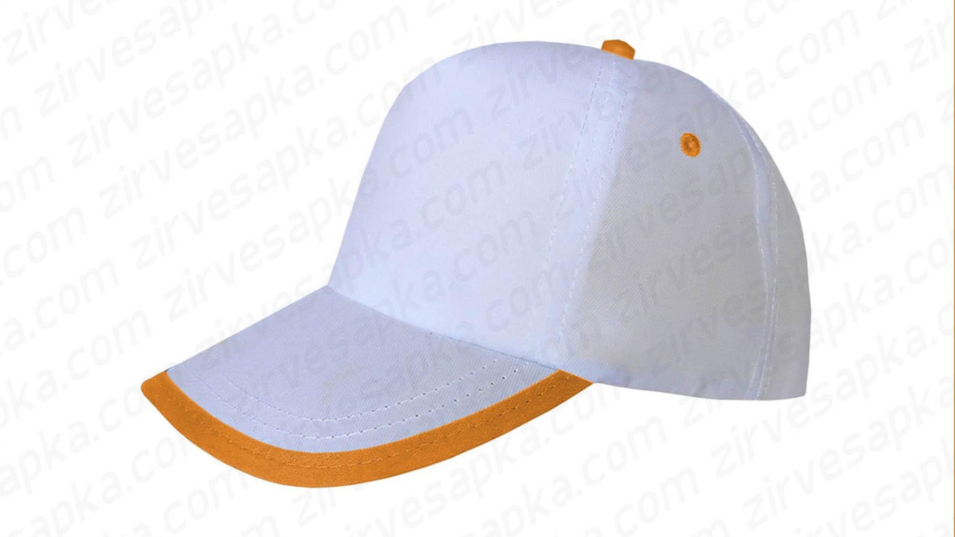 Siperi Biyeli Bereket Şapka - Beyaz Turuncu