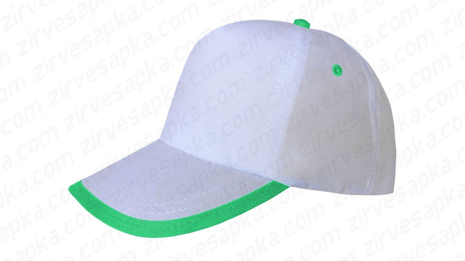 Siperi Biyeli Bereket Şapka - Beyaz Yeşil