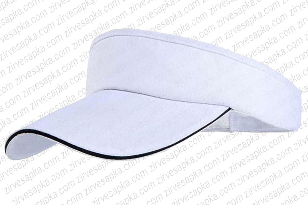 Tenis - Vizör Şapkası Sandvinçli Beyaz