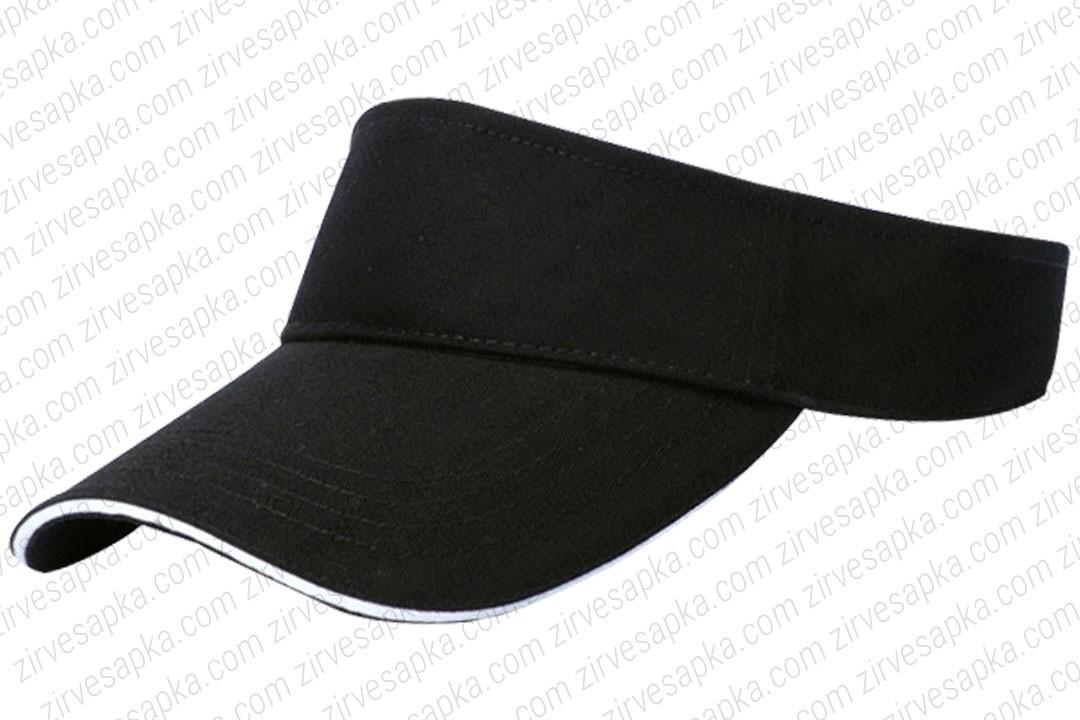 Tenis Vizör Şapkası Sandvinçli Siyah